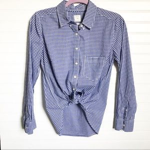 Gap || The Shrunken Boyfriend Button Down Size SP